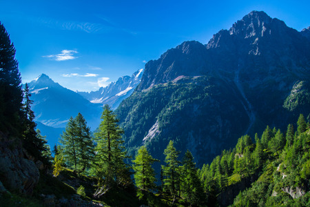 landscape of the French Alps
