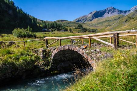 landscape of the Italian Alps Stock fotó