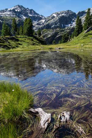 Thuilette 호수, 이탈리아 스톡 콘텐츠