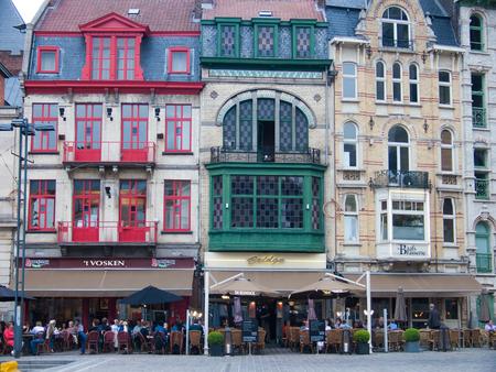 guild houses on korenmarkt square, gand, belgium