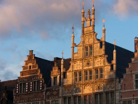 Guild houses in Gand, Belgium