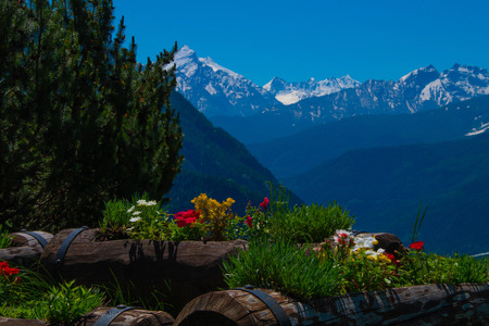 landscape of the Alps in Italy in the Aosta Valley