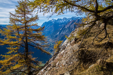 pass of lien in valais in swiss Stock Photo - 119958982