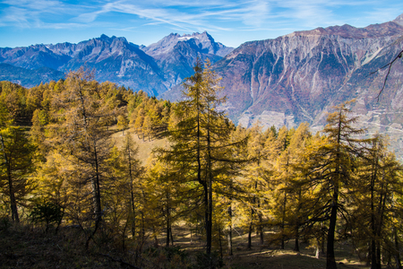 pass of lien in valais in swiss Stock Photo - 119958994
