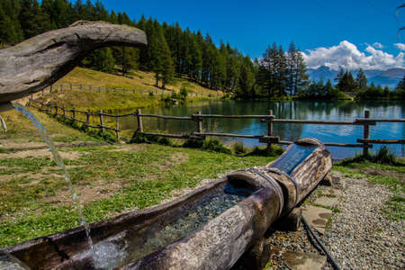 lake of joux in vens in val aoste in italy Фото со стока