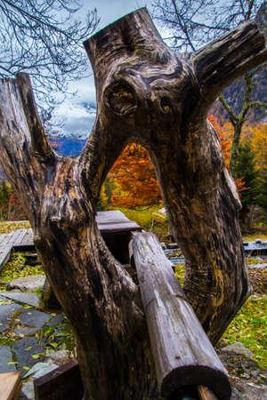 barn in vallorcinne in haute savoie in france Фото со стока