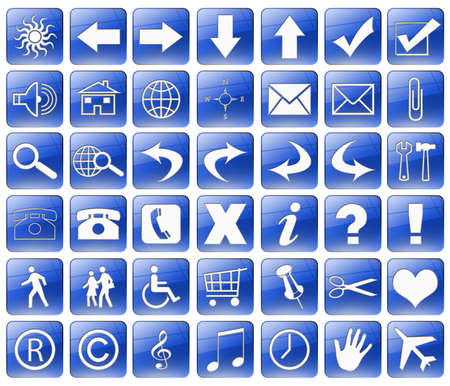 blue web buttons photo