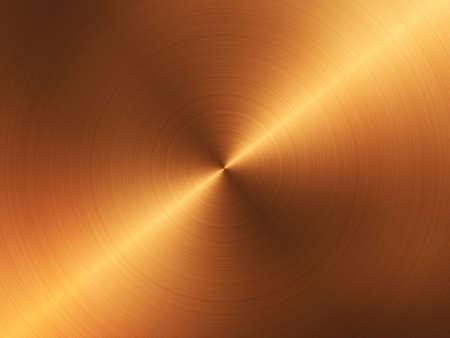 circular brushed gold with light beam photo