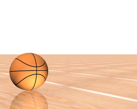 3d basketball isolated on a white background Stock Photo - 3840350