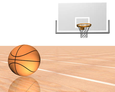 3d basketball isolated on a white background photo
