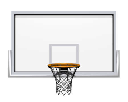basketball net: 3d basketball isolated on a white background