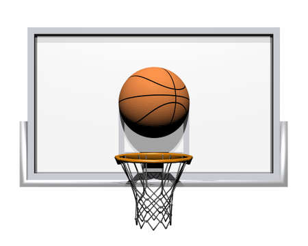 nba: 3d basketball isolated on a white background