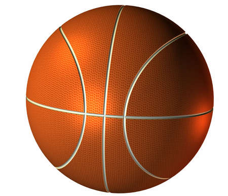 nba: 3d basket ball isolated on a white background Stock Photo