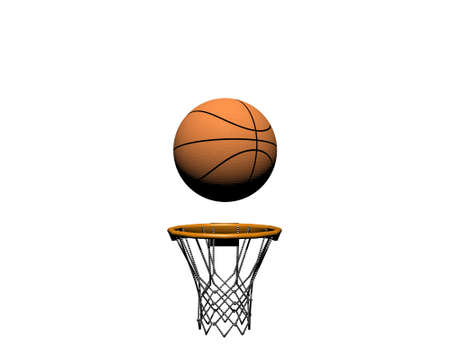 goal net: 3d basketball isolated on a white background
