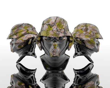 3d soldiers in a gas mask Stock Photo - 3840328