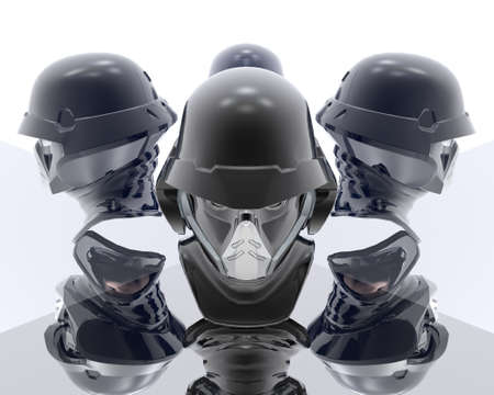 3d soldiers in a gas mask Stock Photo - 3840922