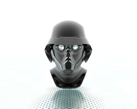 3d soldiers in a gas mask Stock Photo - 3840866