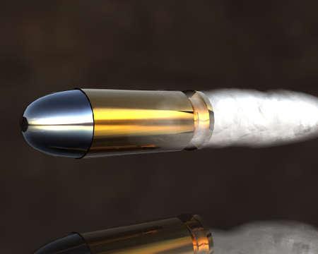 3D brillantes de oro y plata balas de color gris