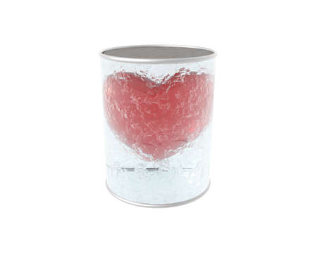 cracked glass: 3D cracked glass can with red heart inside