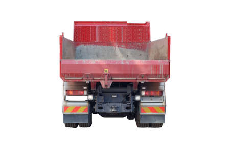 red lorry isolated on a white background photo