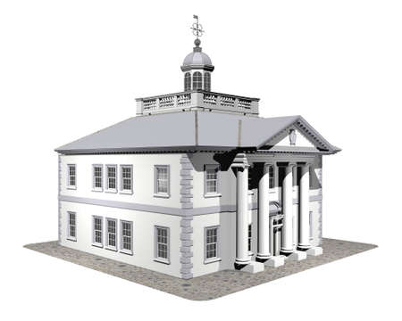 3d house model isolated on a white Stock Photo - 3840908