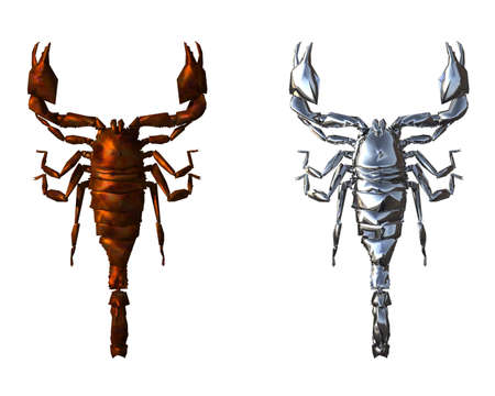 3D bright scorpion isolted on a white background Stock Photo - 3840644