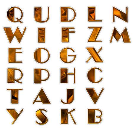 set of 3d bright alphabet isolated on white Stock Photo - 3840753