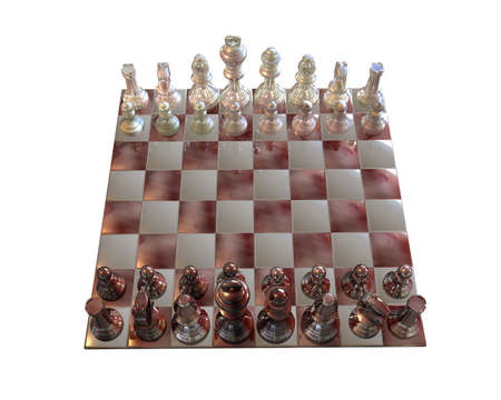 3d chess isolated on white background Stock Photo - 3840886