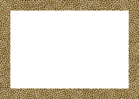 animal fur abstract foto frame with white back photo