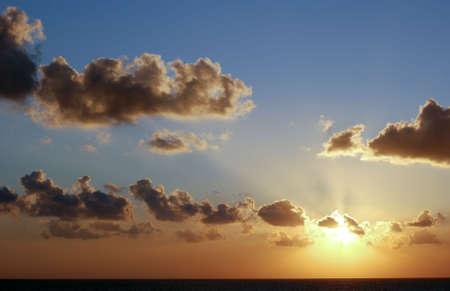 nice Sunset in Mediterranean Sea photo