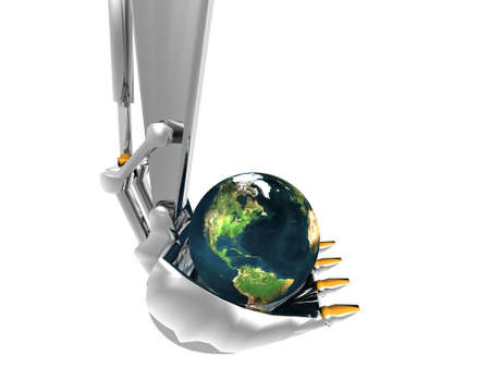 earth and excavator creative background photo