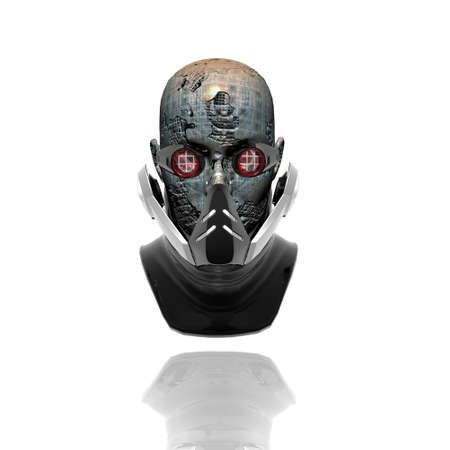 cyborg head, robot Stock Photo - 3855721