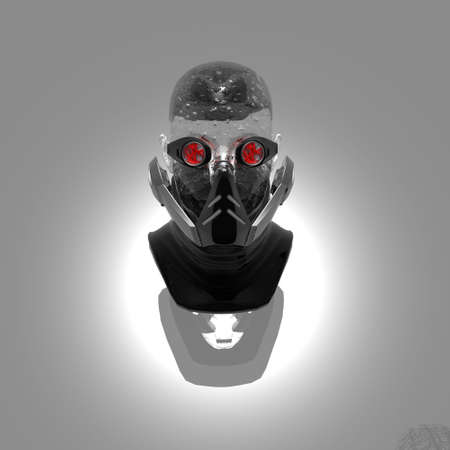 cyborg head, robot photo