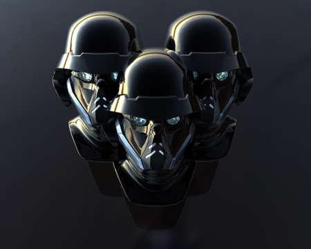 reality: cyborg head, robot