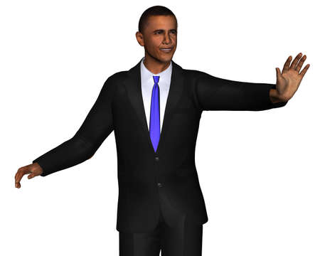 election debate: Barack Obama 3d model isolated on a white background Editorial