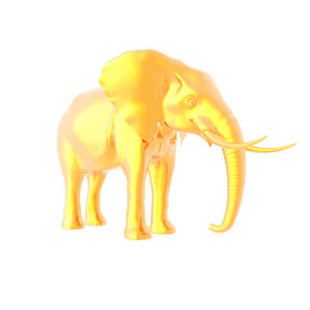 clumsiness: 3d elephant isolated on white background