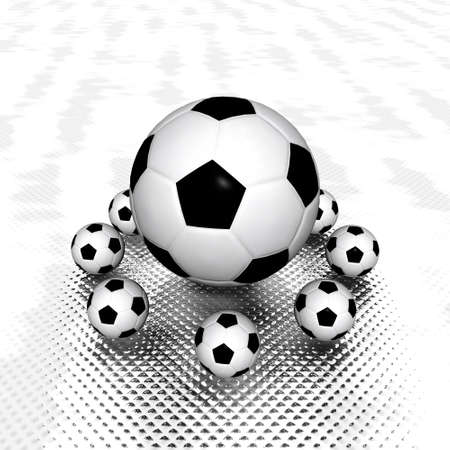 foot path: 3d Soccer ball