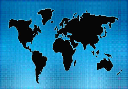colorful world geographical map silhouette photo