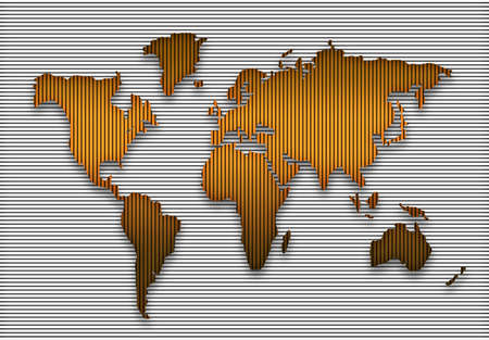 geographical: colorful world geographical map silhouette Stock Photo