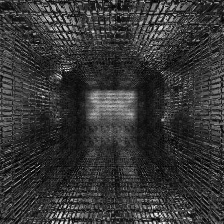 diminishing perspective: abstract creative techno tunnel background
