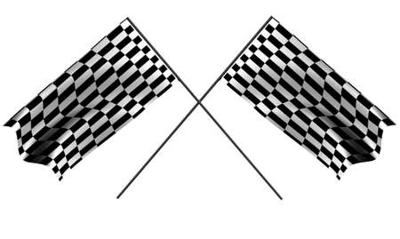 two racing flag isolated on a white background Stock Photo - 4135470
