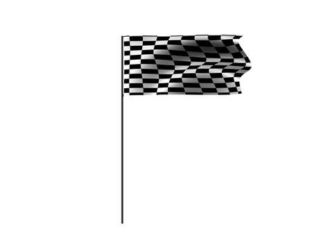 racing flag isolated on a white background Stock Photo - 4135429