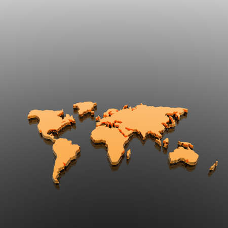 3d model of the geographical world map photo