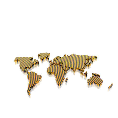 geographical: 3d model of the geographical world map