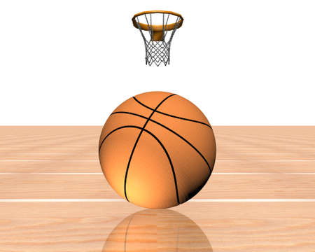 3d basketball isolated on a white background Stock Photo - 4176650