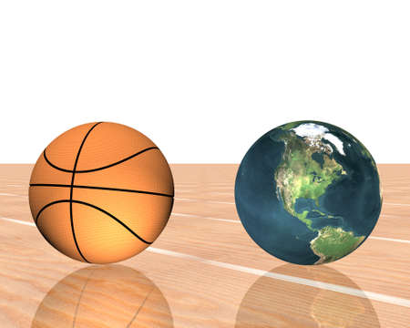 3d basketball isolated on a white background Stock Photo - 4176651