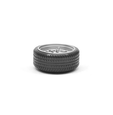 tire wheel isolated on a white background photo