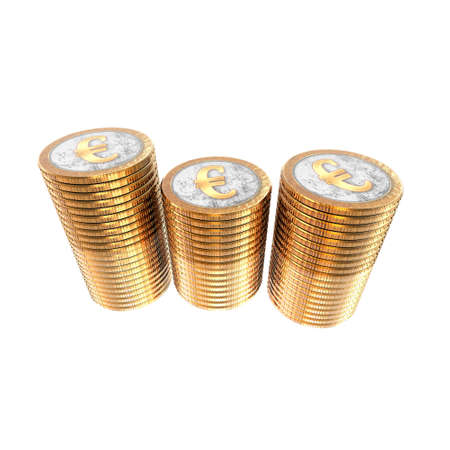 euro coins isolated on a white background Stock Photo - 4316462