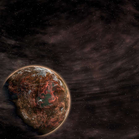 Earth from space on a black background Stock Photo - 4316466