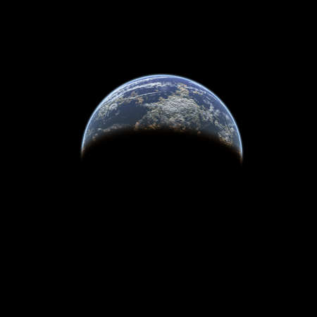 Earth from space on a black background Stock Photo - 4316281